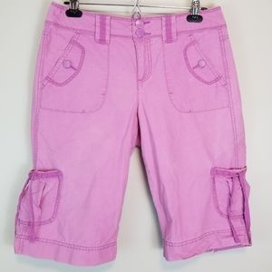 Gloria Vanderbilt 6 Purple Short Capri Cargo Pants